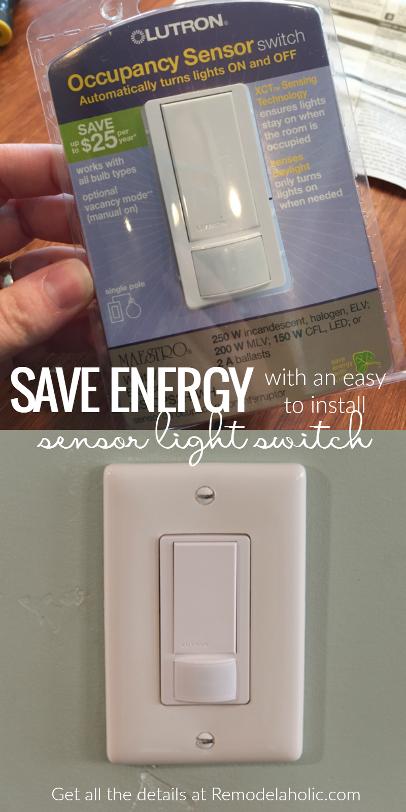 Bathroom Light Goes Off And On remodelaholic | automatic light switch!