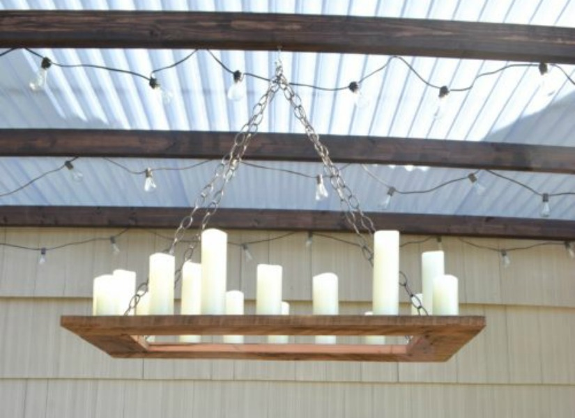 Remodelaholic how to make your own rustic candle outdoor for Build your own chandelier