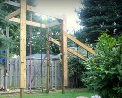 Feat DIY American Ninja Warrior Course For Your Backyard By Girl Meets Carpenter Featured On @Remodelaholic