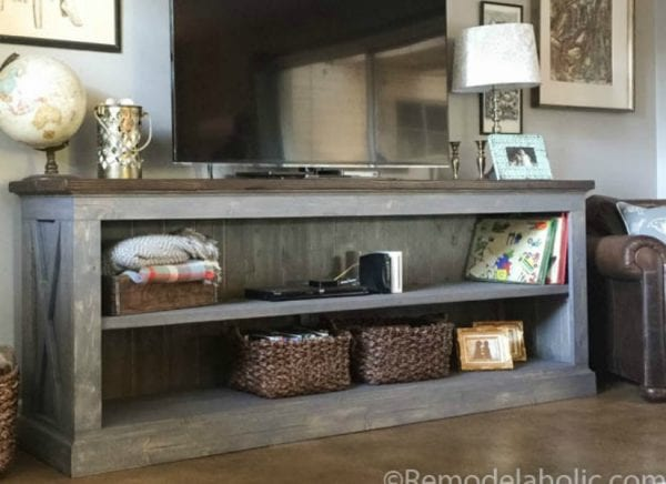 Feat Console Sideboard Table Plans @remodelaholic.com 1
