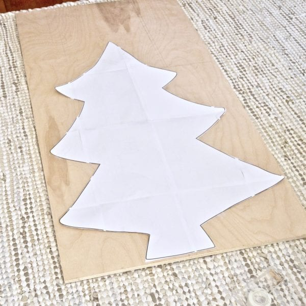How To Build An Easy DIY Plywood Christmas Tree With Lights 01, Best Friends Pizza Club Featured On Remodelaholic