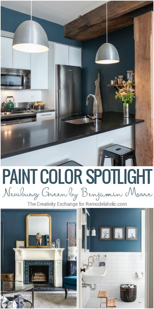 remodelaholic color spotlight benjamin moore newburg green. Black Bedroom Furniture Sets. Home Design Ideas