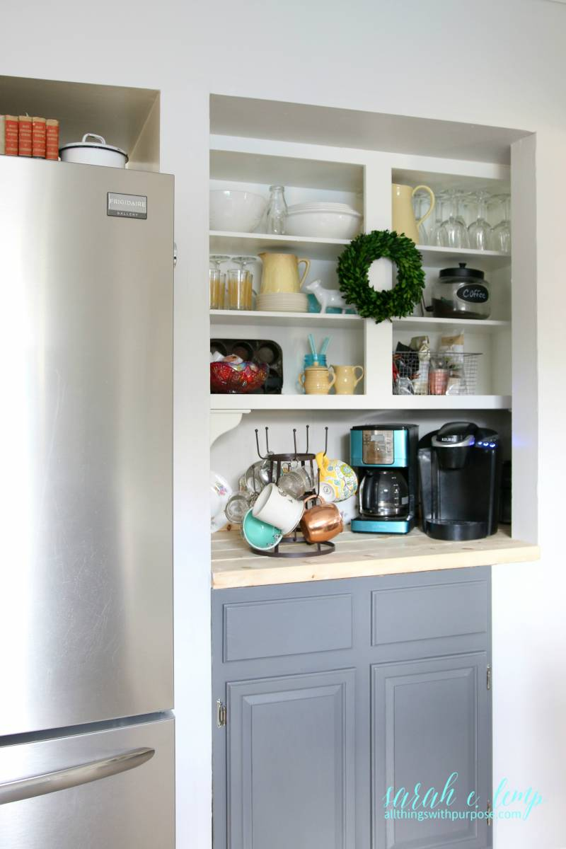 Turn A Pantry Into A Coffee Bar, All Things With Purpose Featured On  @remodelaholic