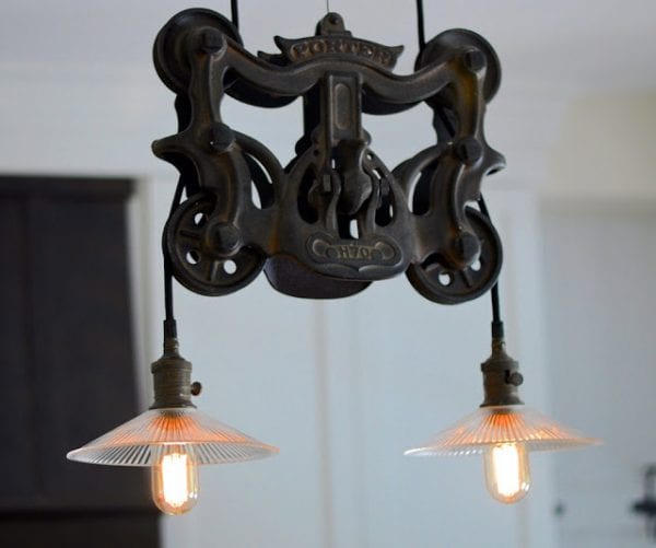 11 Retro Lighting In Renovated Kitchen, By SoPo Cottage Featured On @Remodelaholic