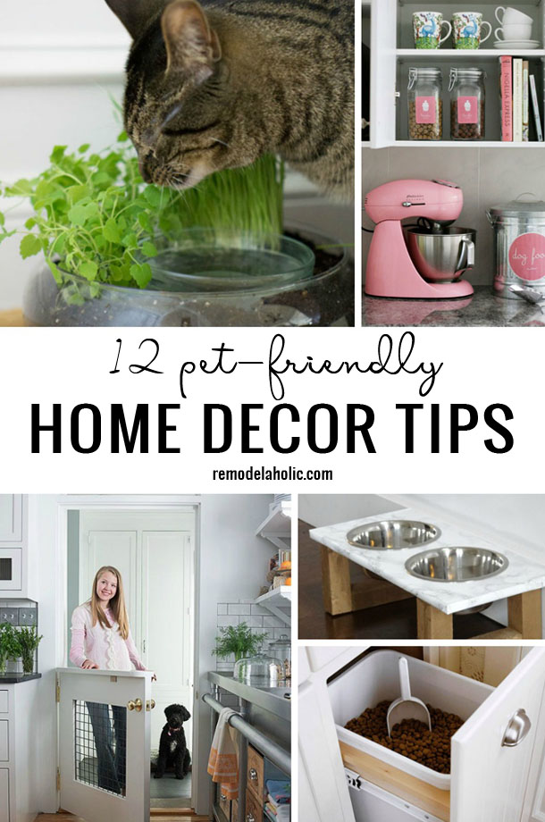 12 Pet-Friendly Home Decor Tips - Remodelaholic