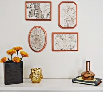 20 DIY Ideas for Vintage Wall Art