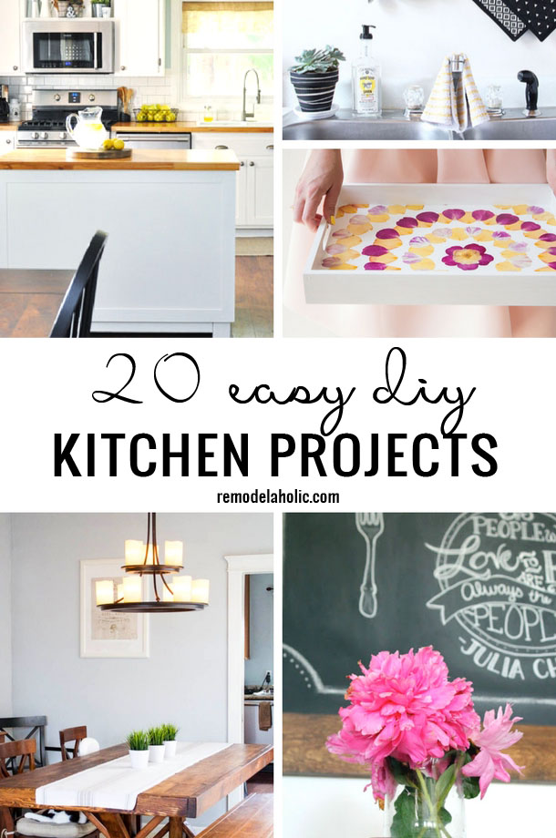 Remodelaholic 20 Easy Diy Kitchen Projects
