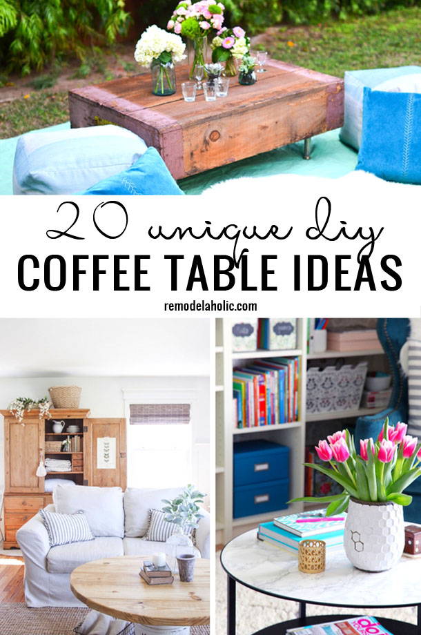 Remodelaholic 20 unique diy coffee table ideas Unique coffee table ideas