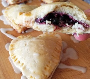 Heart Shaped Delicious Mini Blackberry Pies