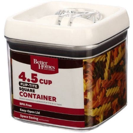 Better Homes And Gardens Flip Tite 4.5 Cup Square Container