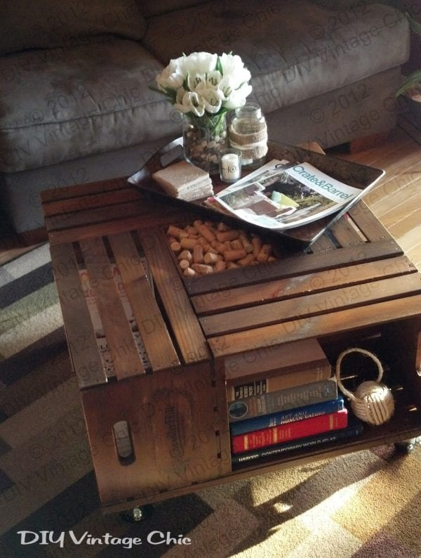 DIY Coffee Table Ideas Vintage Chic