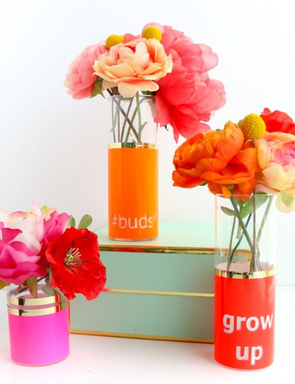DIY Flower Vases A Kailo Chic Life
