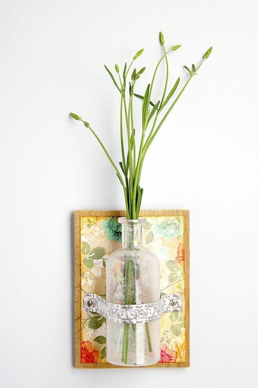 DIY Flower Vases Mod Podge Rocks