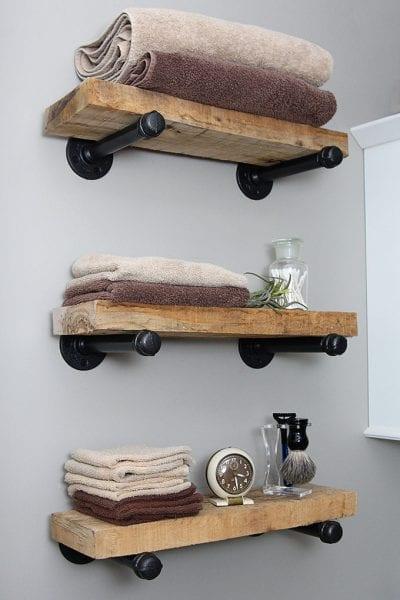 DIY Industrial Pipe Shelves 4951