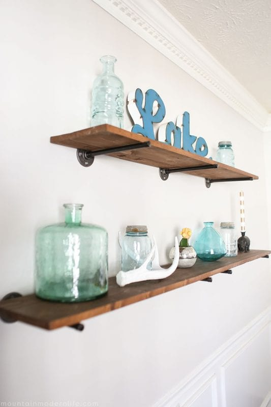 DIY Shelving Mountain Modern Life
