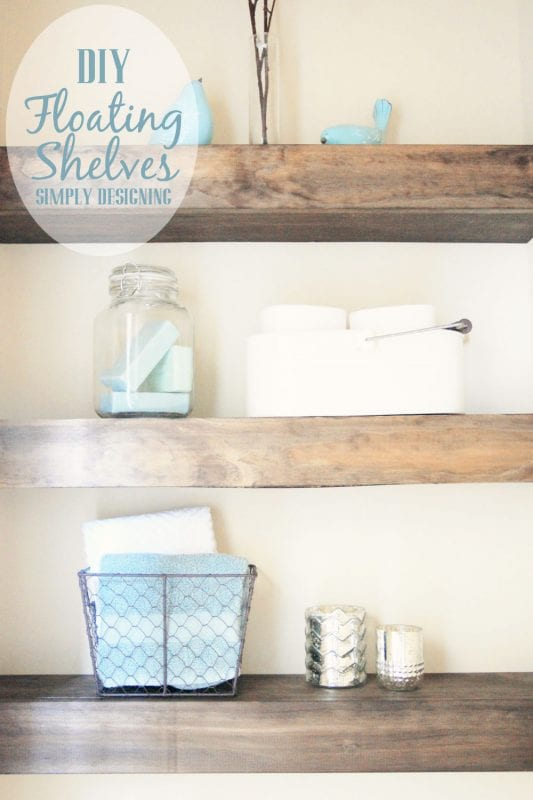 bathroom wood shelving ideas remodelaholic 20 beautiful diy shelving ideas