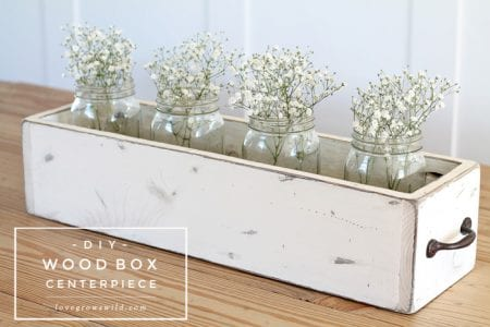 DIY Wood Box Centerpiece Final