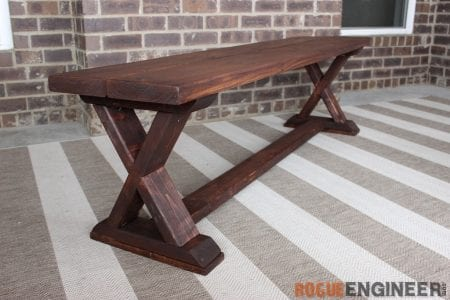 DIY X Brace Bench Free Plans Rogue Engineer 1