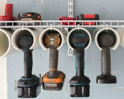 DIY Power Tool Organizer Quick And Easy Tutorial @Remodelaholic Feat