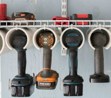 Quick and Easy DIY Power Tool Organizer