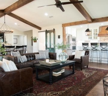 Get This Look Fixer Upper Big Country House Living And Dining Rooms