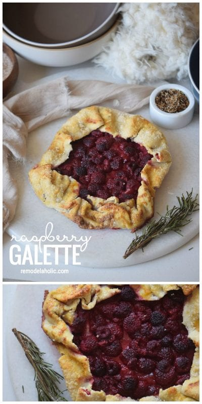 Looking For A Simple Pie Like Dessert Recipe To Try This Raspberry Galette Is The Perfect Dessert To Share Via Remodelaholic.com