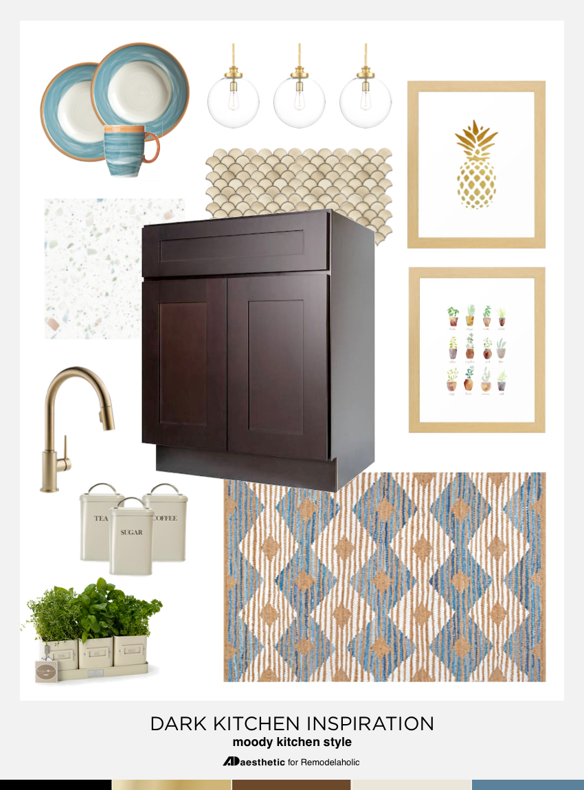 Dark Kitchen Inspiration and Design Tips   Creating a non-white kitchen at Remodelaholic.com