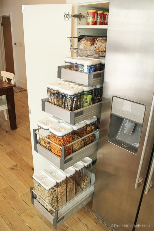ORganized Snack Pantry For Family By @remodelaholic 18