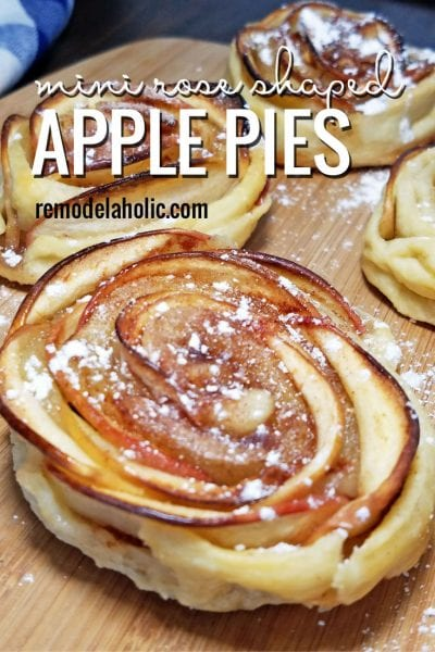 Mini Rose Shaped Apple Pies