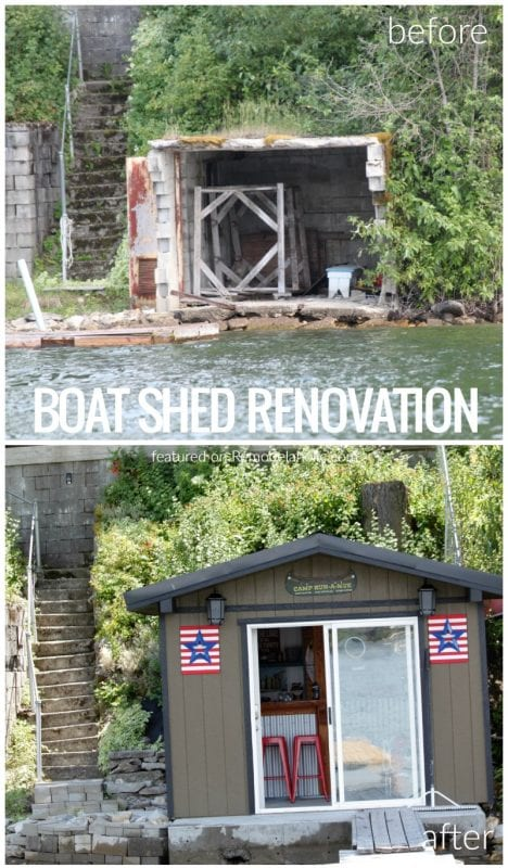 Boat Shed Renovation Before And After On @Remodelaholic 2
