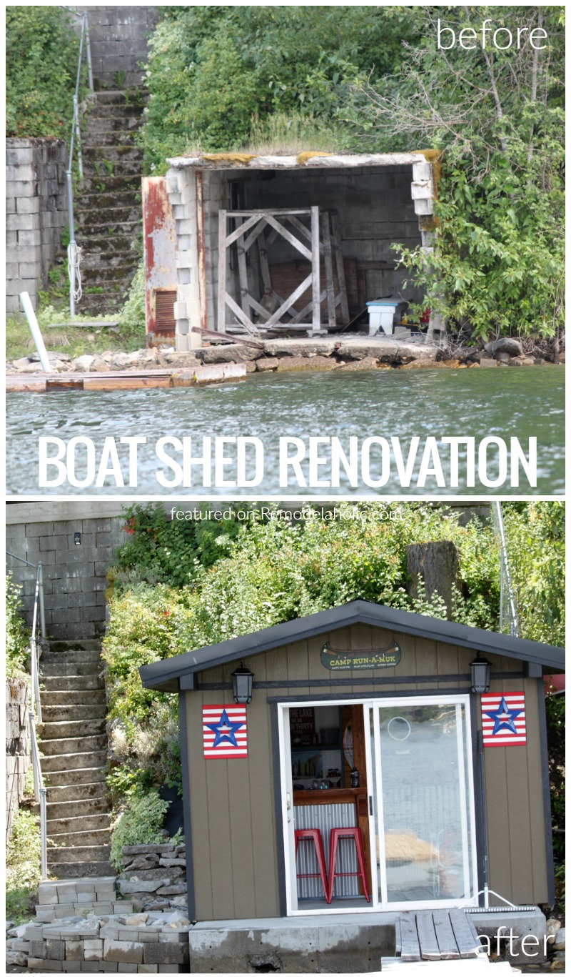 Remodelaholic Before And After Boat Shed Renovation