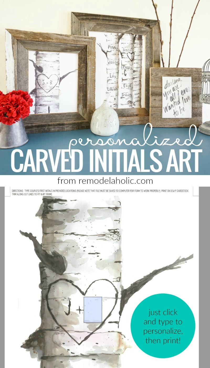 Remodelaholic | Free Printable Birch Tree Art Prints with Custom ...