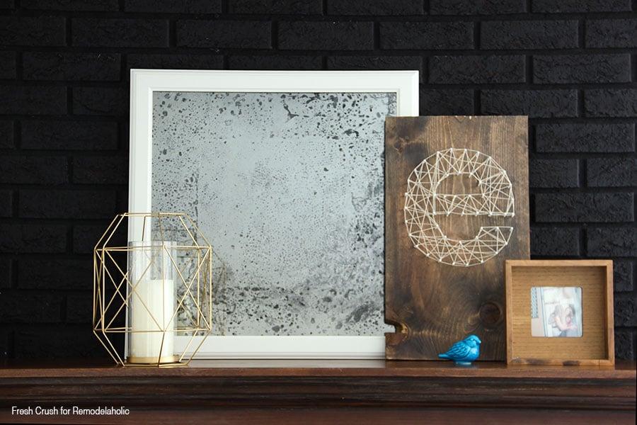 Diy Antique Mirror Black Brick3