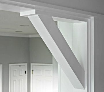 How To: DIY Craftsman Door Casing and Easy Corbels