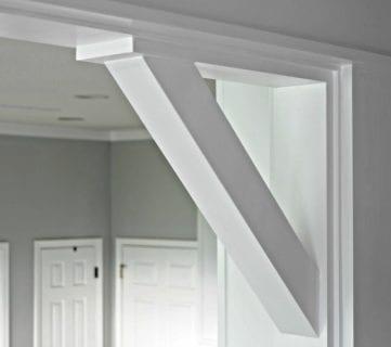 How To: DIY Craftsman Door Casing and Easy Corbels