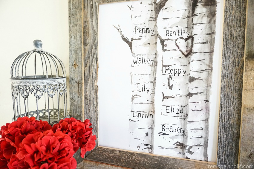 Remodelaholic Free Printable Birch Tree Art Prints With