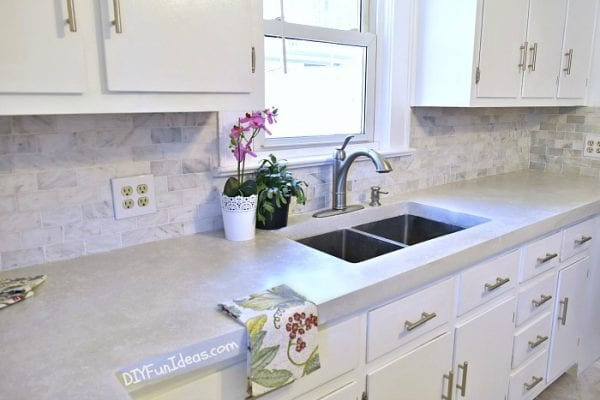 Remodelaholic Inexpensive But Amazing Diy Countertop Ideas