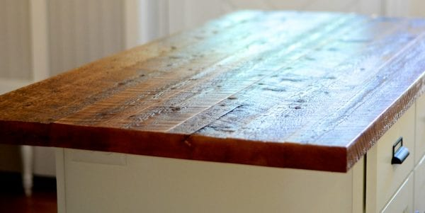 Reclaimed Wood Countertop In A Bungalow Kitchen Renovation, SoPo Cottage Featured On Remodelaholic