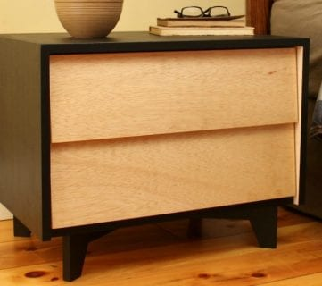 Saws On Skates Mid Century Modern Nightstand Feature
