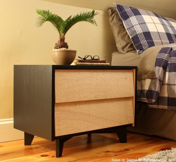Saws On Skates Mid Century Modern Nightstand Finished 2a