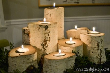 Tree Stump Candle Holder 12