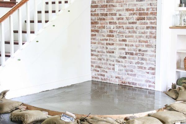 10 Complete Tutorial For Updating Your Hearth To Concrete From Tile By She Holds Dearly Featured On @Remodelaholic