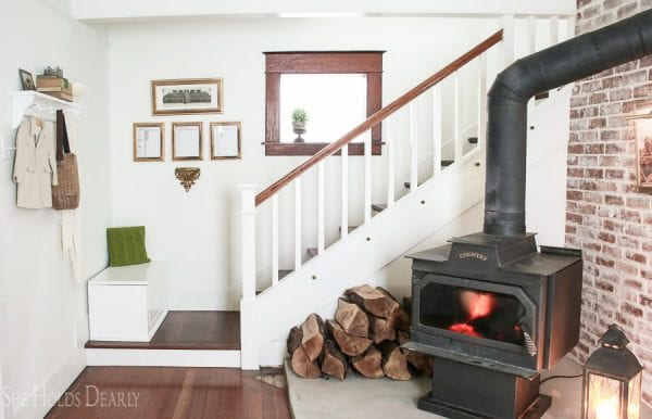 15 Beautiful Concrete Hearth In 1900s Farmhouse Renovation, By She Holds Dearly Featured On @Remodelaholic