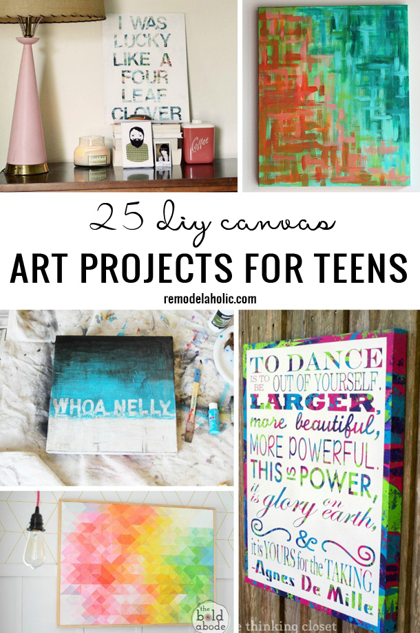 25 DIY Canvas Art Projects For Teens Remodelaholic