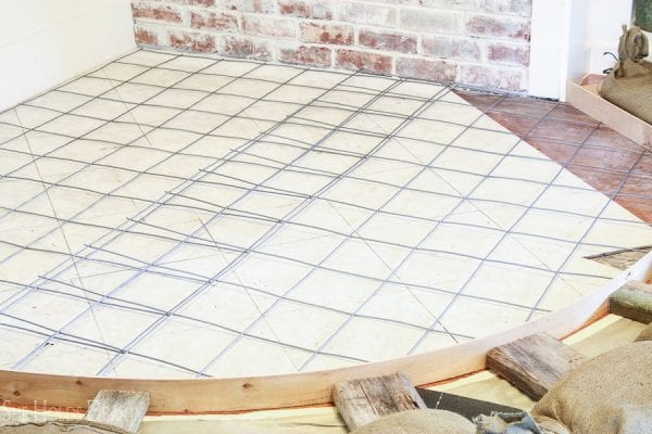 5 Complete Tutorial For Laying A Concrete Hearth In Your Home By She Holds Dearly Featured On @Remodelaholic