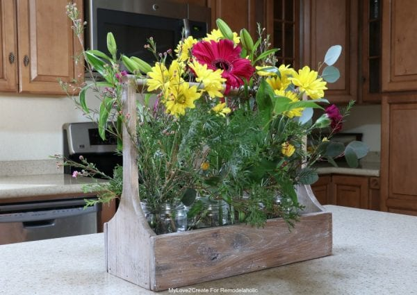 Antique Crate With Flowers Horizontal, MyLove2Create