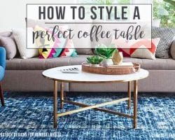 Postbox Designs: How To Style the Perfect Coffee Table (with just 6 pieces!)