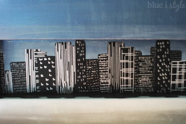 DIY Canvas Art Projects Blue I Style Skyline