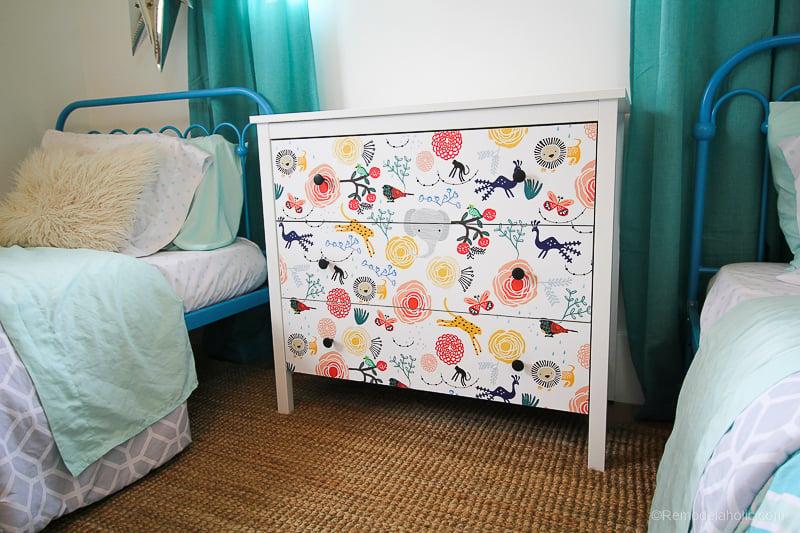 DIY Ikea Dresser Hack Updating With Wallpaper @remodelaholic 3