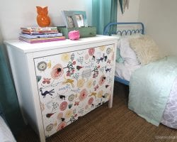 DIY Ikea Dresser Hack Updating With Wallpaper @remodelaholic 6
